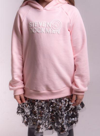 SD x Kiwi Kids hoodie pink